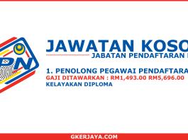Iklan jawatan kosong Jabatan Pendaftaran Negara