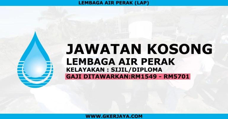 Iklan jawatan kosong Lembaga Air Negeri Perak