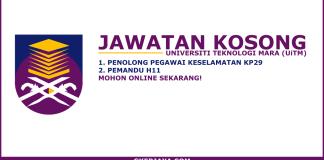 Iklan jawatan kosong UiTM Kampus Mukah
