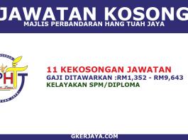 Jawatan Kosong Majlis Perbandaran Hang Tuah Jaya