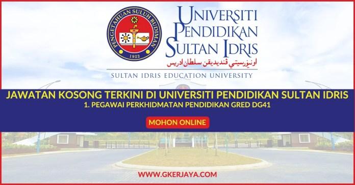 Jawatan Kosong Pegawai Perkidmatan Pendidikan DG41 UPSI