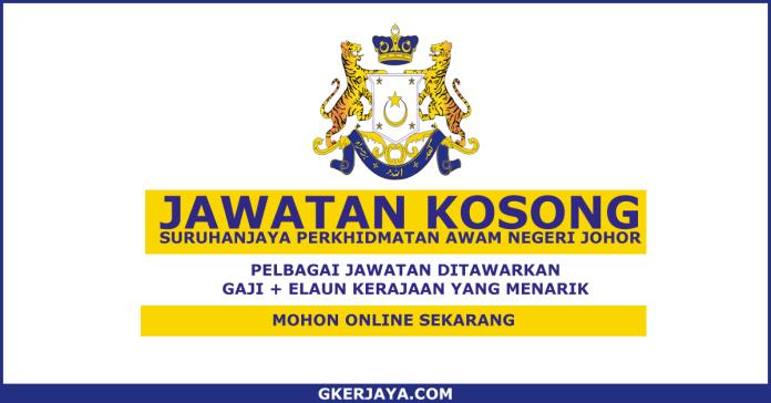 Jawatan Kosong Suruhanjaya Perkhidmatan Awam Negeri Johor