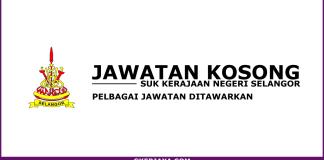 Jawatan Kosong Terkini SUK Negeri Selangor