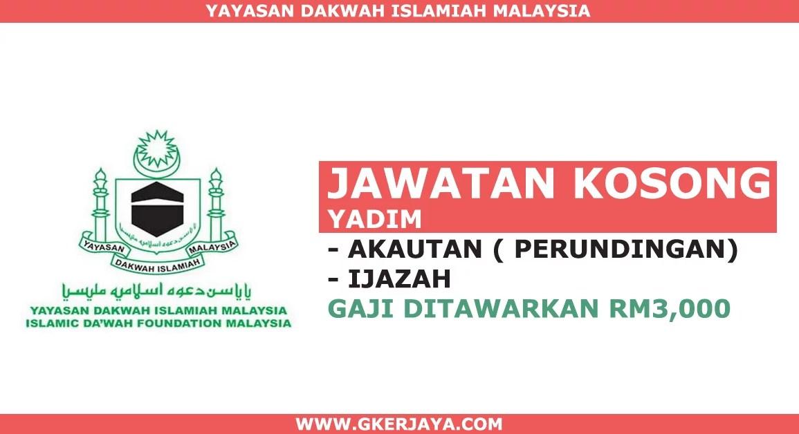 Jawatan kosong Akauntan Yayasan Dakwah Islamiah Malaysia