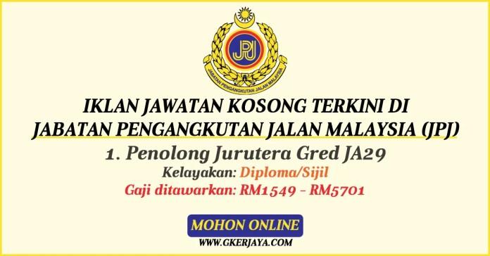 Jawatan kosong di Jabatan Pengangkutan Jalan Malaysia (JPJ)