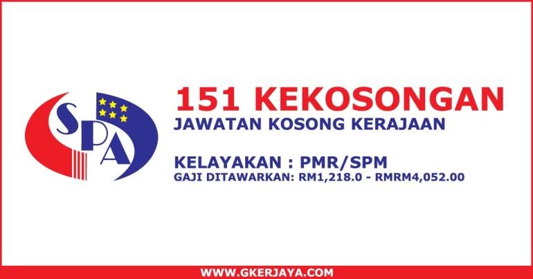 Jawatan kosong kerajaan Terkini 151 Kekosongan