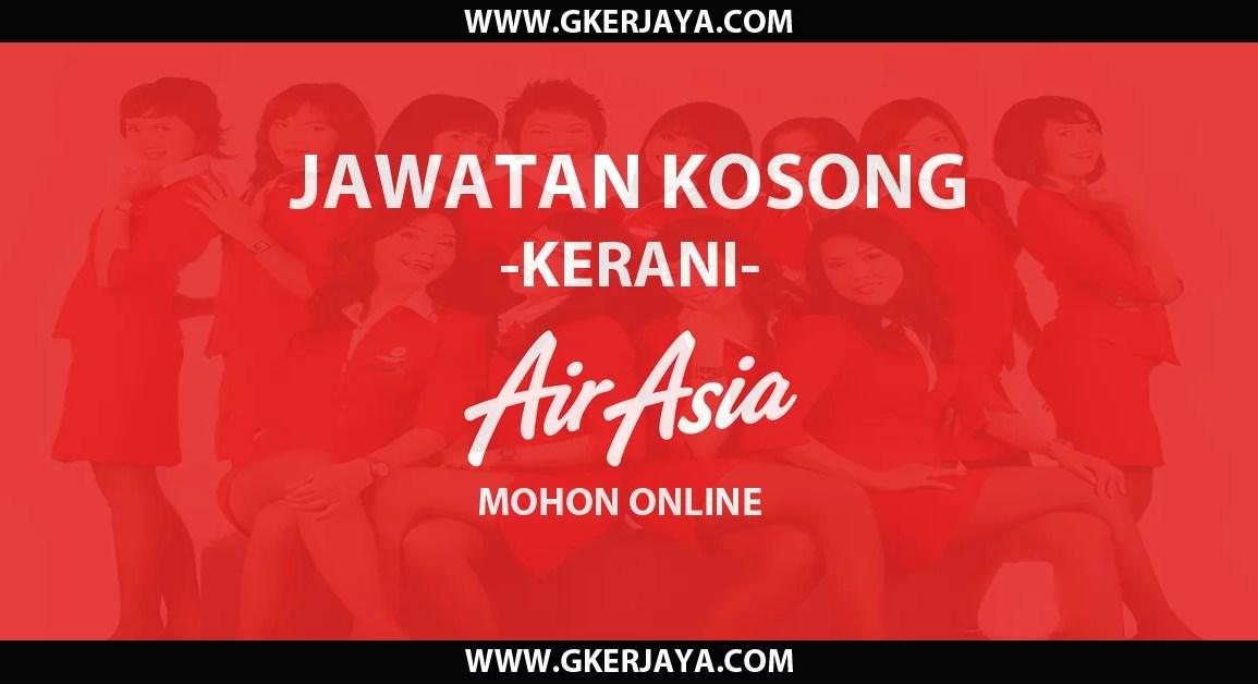 Kerani AirAsia Berhad Mohon Online
