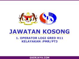 Kerja Kosong Kerajaan Operator Logi Gred H11