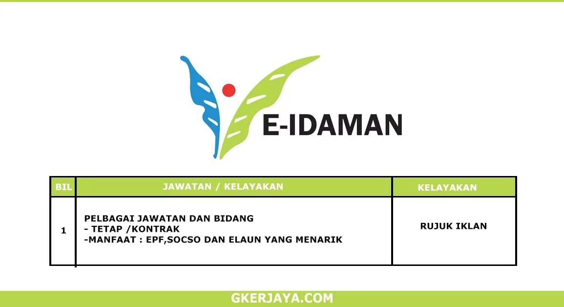 Kerja Terkini E-Idaman Sdn Bhd (1)