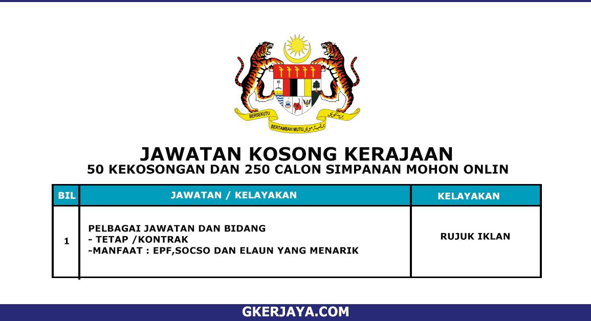 Kerja Terkini Jabatan Perkhidmatan Awam Sabah TERKINI (1)