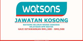 Kerja kosong Watsons Sarawak