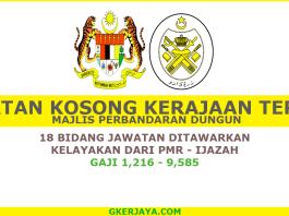 Majlis perbandaran dungun jawatan kosong 2017