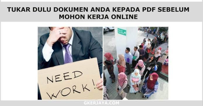 Mohon Jawatan Online apa yang perlu anda sendiakan (1)