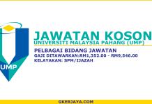 Peluang kerjaya terkini Universiti Malaysia Pahang