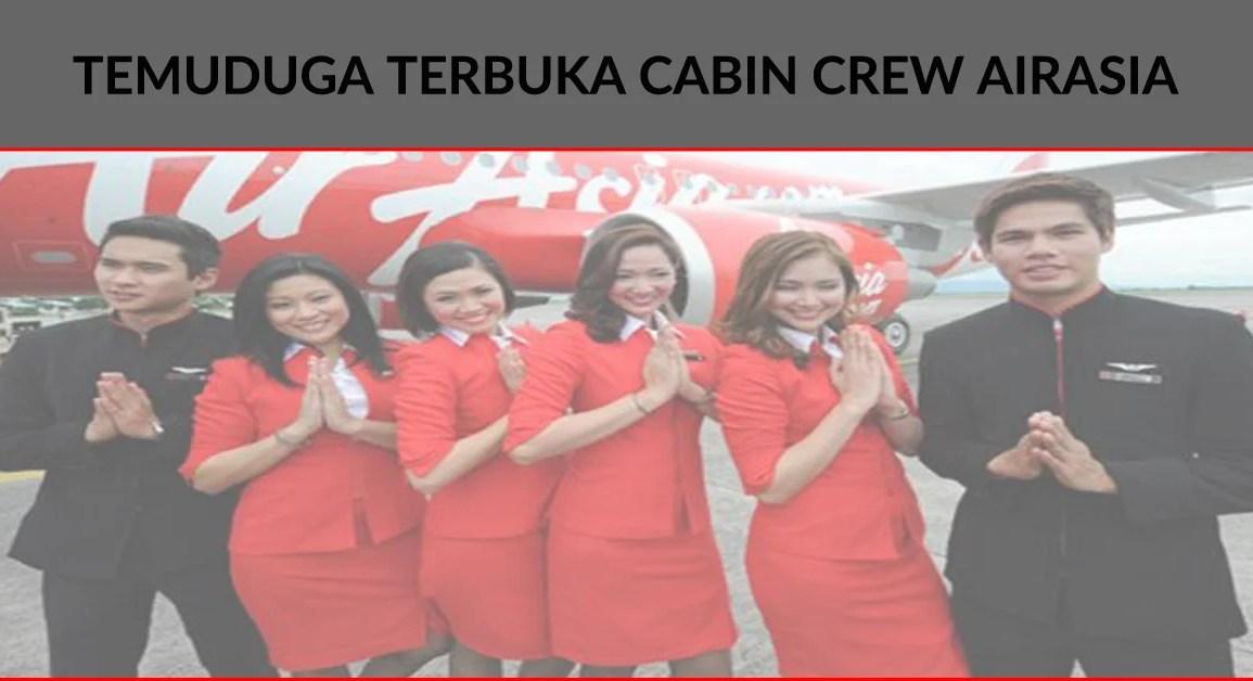 Pengambilan Cabin Crew AirAsia 16 Julai 23 Julai 2016