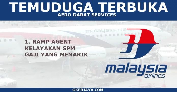 Temuduga terbuka Ramp Agent AeroDarat Services