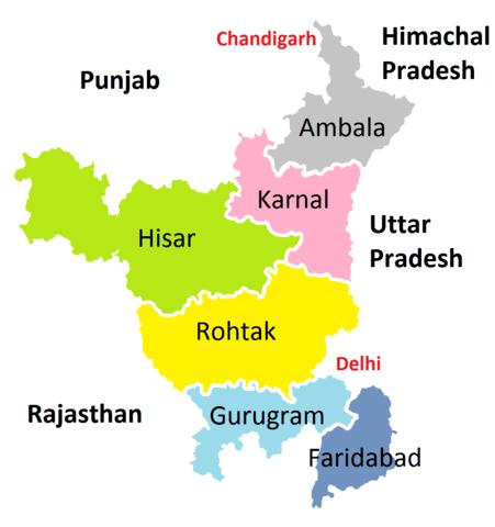 हरियाणा में कुल किनते जिले है 2020