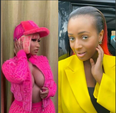Cool update: Nicki Minaj Gives DJ Cuppy A Shout Out (See Photos) 1