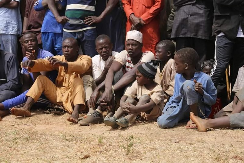 600 Bandits Terrorizing Kaduna Agree To Surrender Arms After Meeting With Islamic Scholar Sheikh Gumi In The Forest 6
