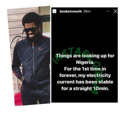 Basketmouth Celebrate PHCN For This Ridiculous Reason 1