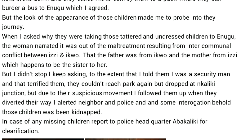Commercial Tricycle Operator Rescues Two Children From Kidnappers In Ebonyi 6