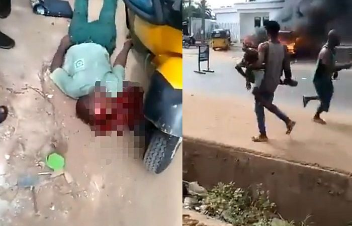 Two Secondary School Students Shot Dead During Attack On A Bank In Anambra (Video)