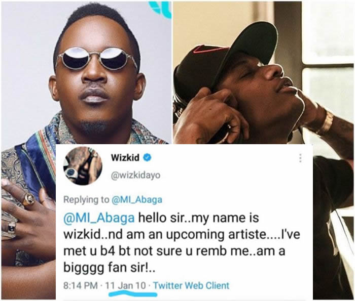 MOTIVATION!! If You Like Give Up – See This Tweet Of Wizkid Begging M.I Abaga For Attention In 2010 🙏 1