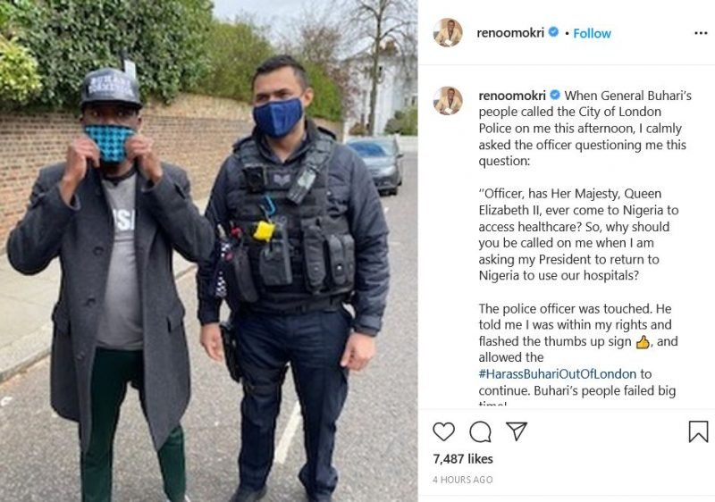 Reno Omokori Reveals What He Told UK Police When They Were Called In By President Buhari 3