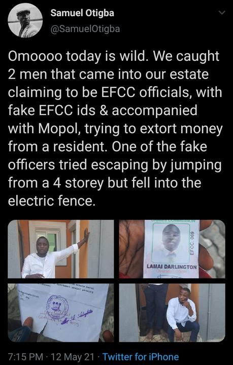 Fake EFCC Officials Caught In Lagos (Photos) 1