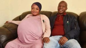 South African Woman Breaks Record As She Gives Birth To 10 Babies At Once (See Photos) 1