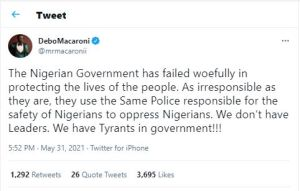 The Nigeria Govt Has Failed Woefully, Instagram Comedian Mr. Macaroni, Laments 1