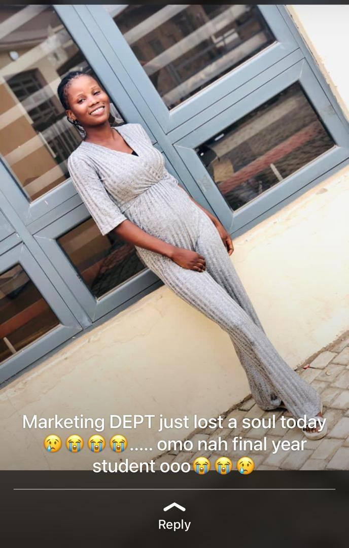 Final Year Ogun Poly Student Slumps, Dies While Taking Her Bath 1