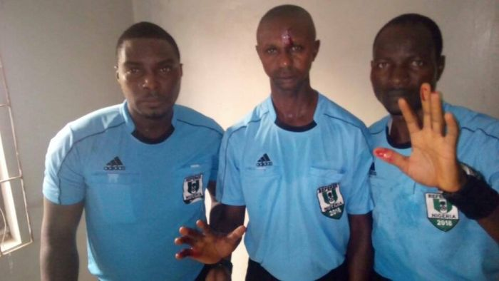 Nigerian Referee Beaten Up Like A Thief After Match In Kano (See Video)