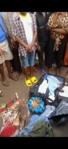 PHOTOS! Young Yahoo Boy Runs Mad In Aba, Fetish Items Found In His Car 4