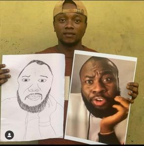 Instagram comedian, Lasisi Elenu is on a look for a Nigerian Artist who drew him a portrait He made this clear to everyone through his Instagram account tagging the artist handle with a displease caption.  He wrote:  I swear this guy don die for my hand!! Just Dey run maaaaa no cash your Papa 😡😡@bodataiye_oniyakuya  Wait fess Who get that teeth 😡😡😡  See The Drawing:-