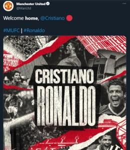 Cristiano Ronaldo Rejoins Manchester United 1