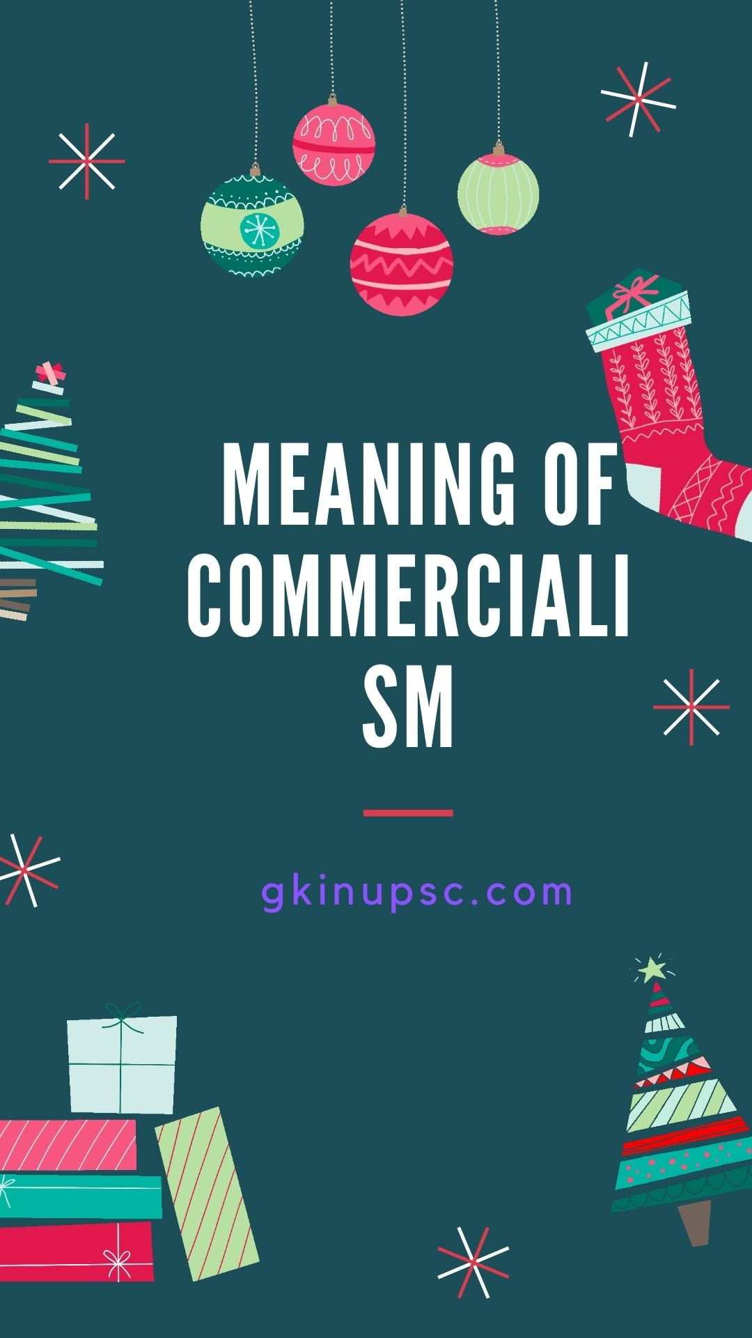 meaning of commercialism
