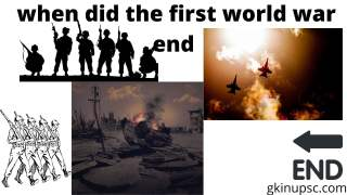 when did the first world war end