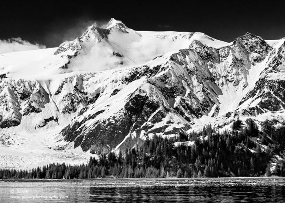 """""""Mountain Gradeur"""", Canon 40D, 70-200mm f/4L, No filters, Converted to B&W in Lightroom"""