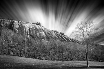 """""""Stone Mountain Expression"""", Canon 5DS R, 16-35mm f/2.8L Mk2, Singh-Ray Color Combo Polarizer, Galen Rowell 3-stop soft ND Grad, Mor-Slo 10-stop ND, 200 seconds, Converted to B&W in Lightroom"""