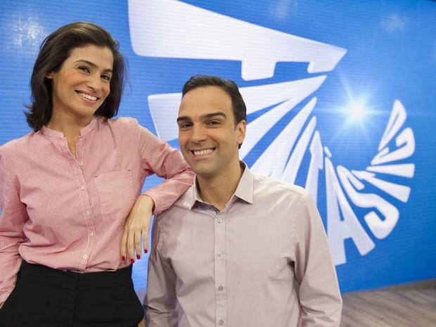 Tadeu Schmidt e Renata Vasconcelos