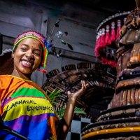 Uma das experiências online, os bastidores da escola de samba