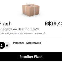 Um pedido de Uber Flash