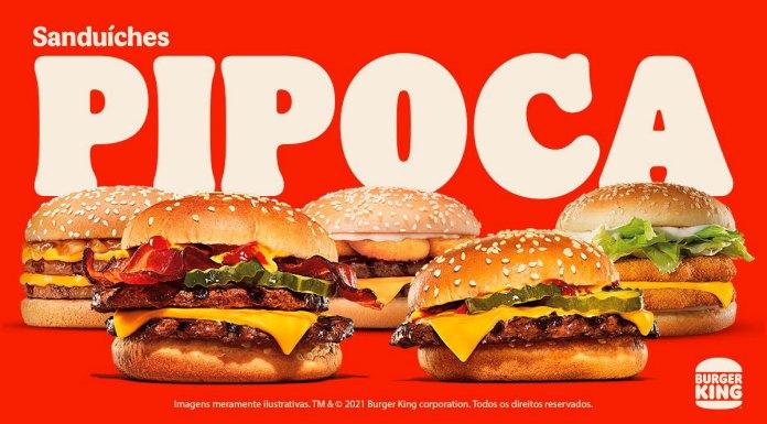 Banner da seleção pipoca do Burger King, da campanha pipoca e camarote do BK.