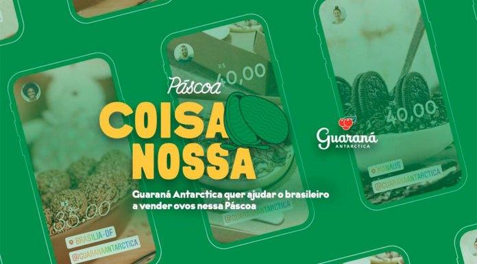 Banner do Páscoa Coisa Nossa de Guaraná.