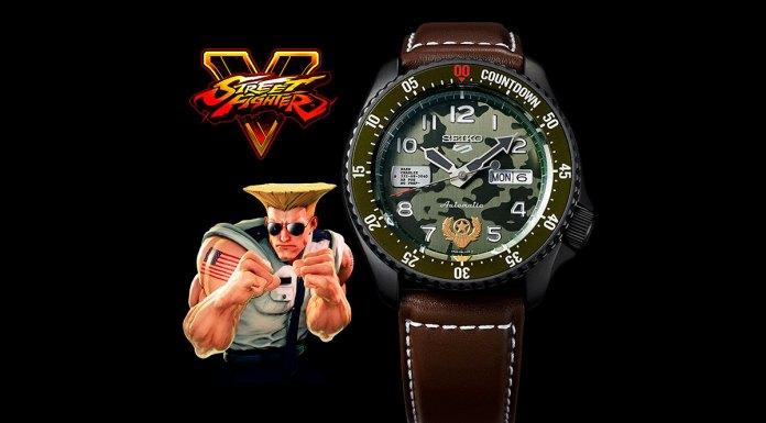 Relógio do Guile da edição limitada de Street Fighter V da Seiko.