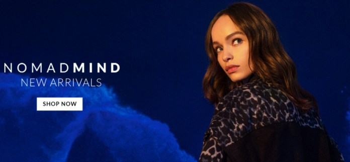 Banner promocional da coleção Nomad Mind, da John John
