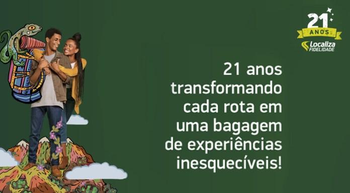 Imagem promocional da Localiza com os dizeres