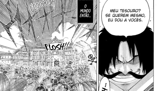 Trecho do mangá de One Piece na MANGA Plus