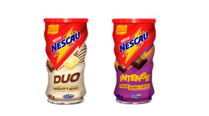 Embalagens do Nescau Duo e Intense.